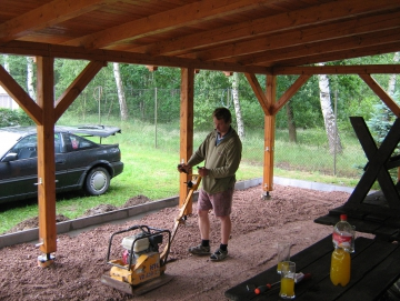 2009 budování pergoly