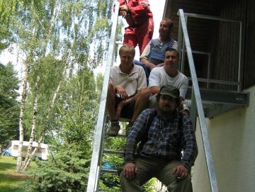 2009 montáž schodiště