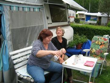 2009 posezení s Alenou a holkama v ATC